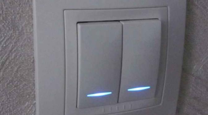 Переделка подсветки выключателей Schneider Electric UNICA