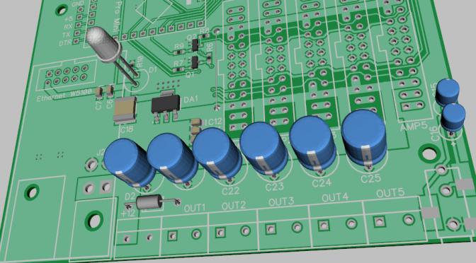 Зонный усилитель для умного дома на микросхеме PAM8610