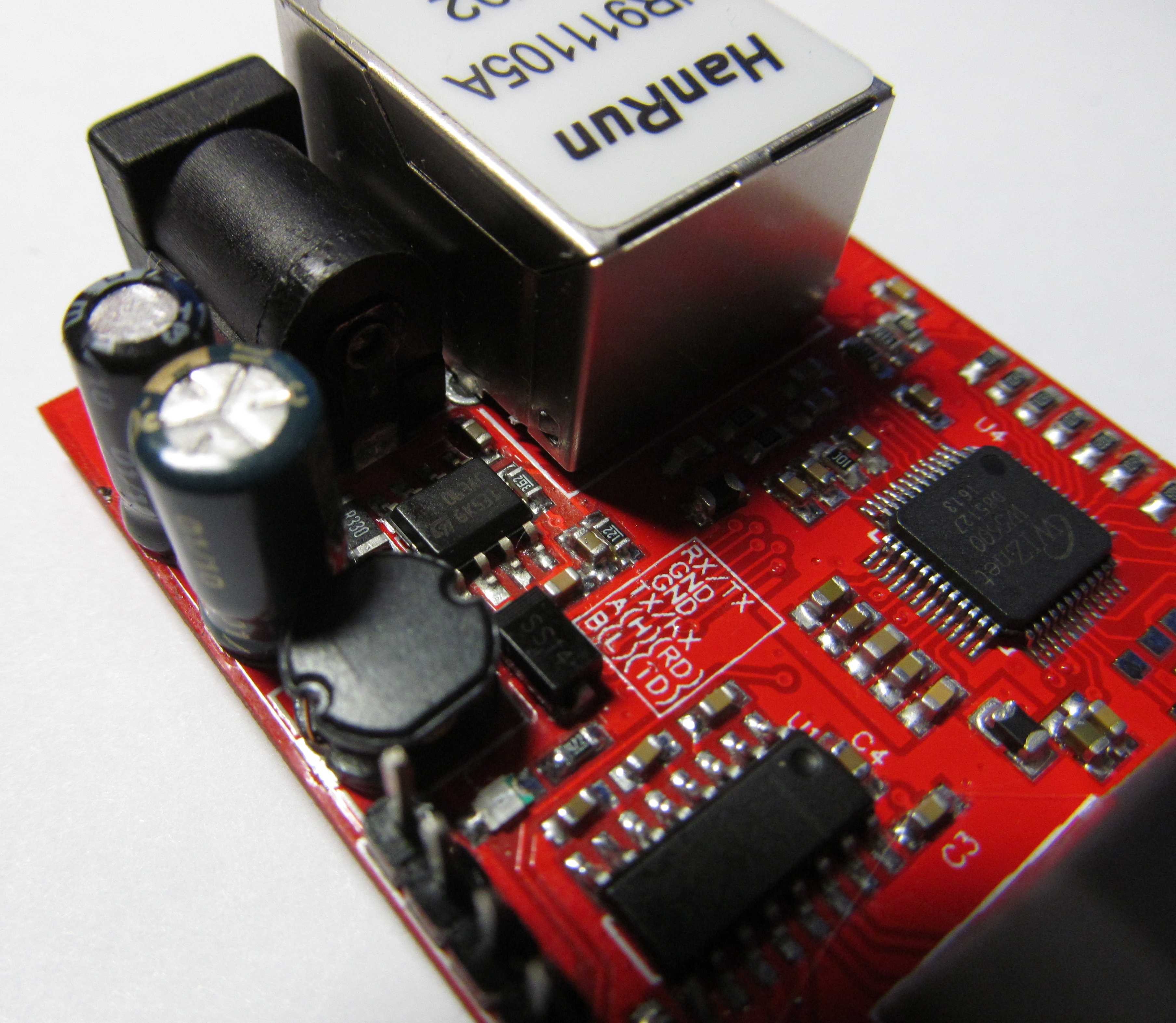 Шлюз RS232, CAN, RS485 to Ethernet MQTT на Atmega328