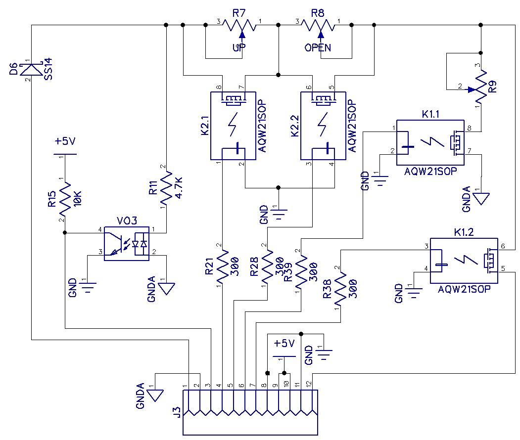 Принципиальная электрическая схема блока управления домофоном