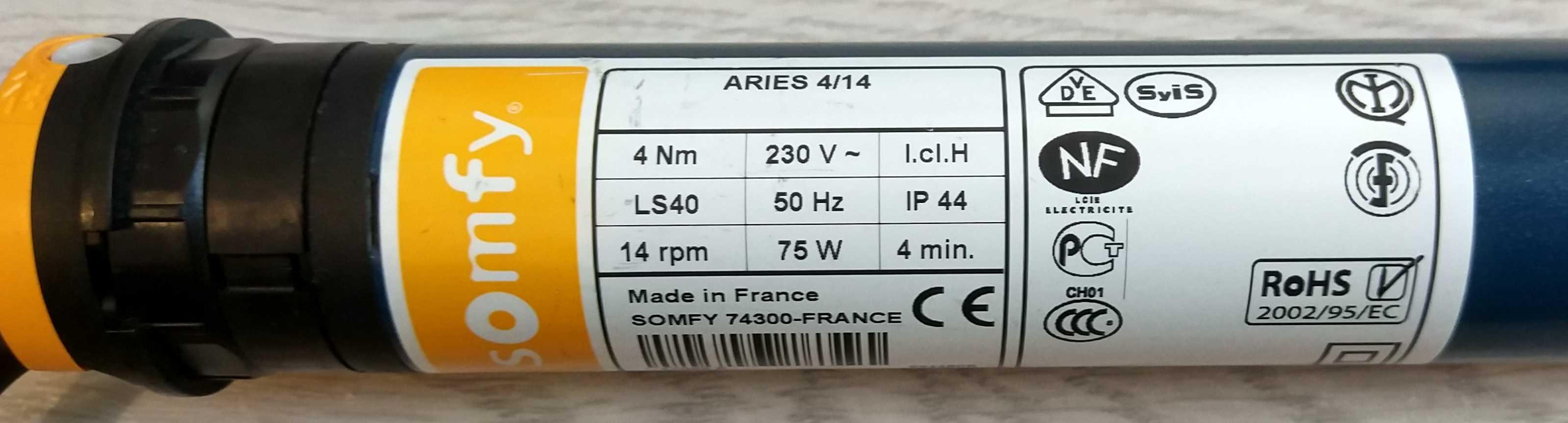 Привод SOMFY LS 40 Aries S 4/14