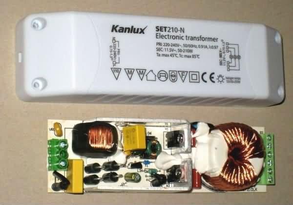 Электронный трансформатор для галогенных ламп Kanlux SET210