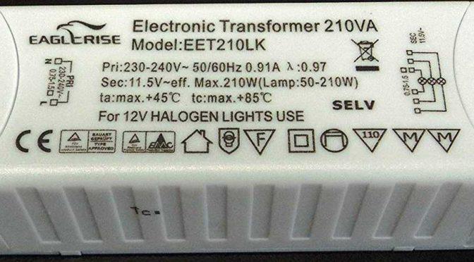 Ремонт электронного трансформатора Eaglerise EET210LK для галогенных ламп