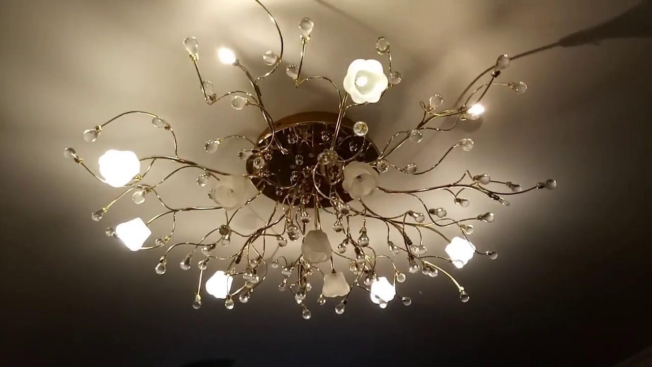 Люстра с низковольтными капсульными галогенными лампами