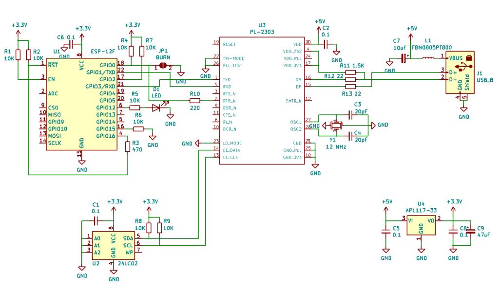 Схема WIFI модуля