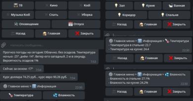 Inline меню для telegram