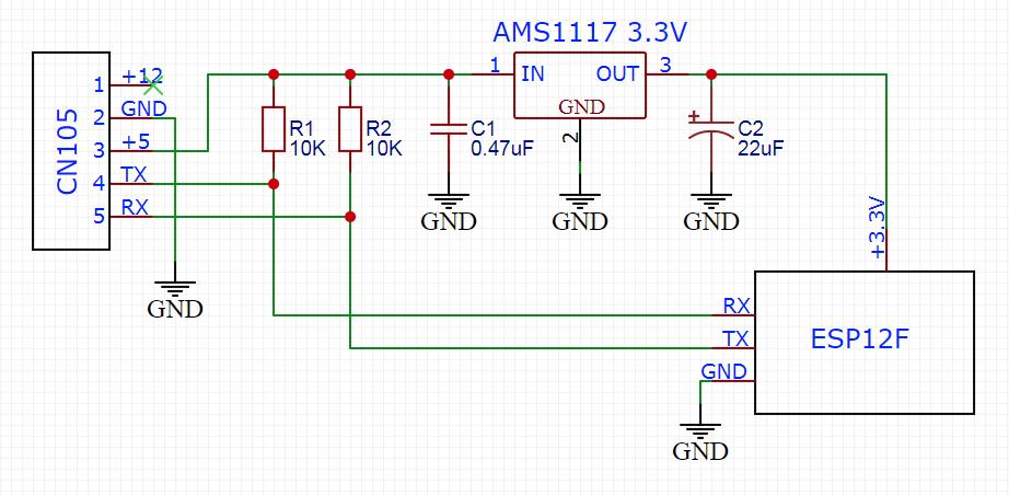 Схема подключения ESP к кондиционеру Mitsubishi.