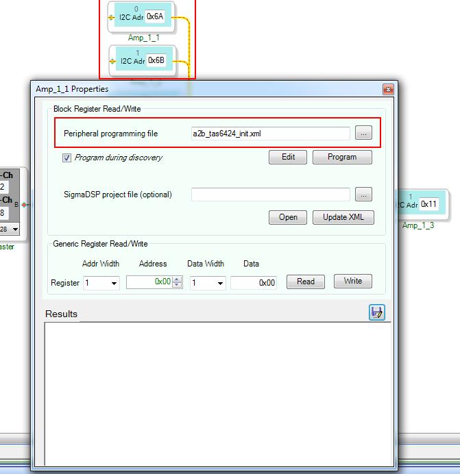 Выбор конфигурационного файла для I2C устройства